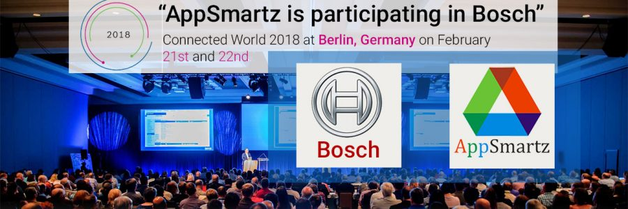 AppSmartz is participating in Bosch Connected World 2018 at Berlin, Germany